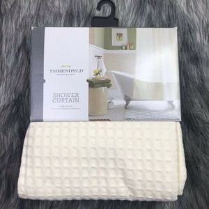 Threshold Ivory Waffle Shower Curtain FABRIC